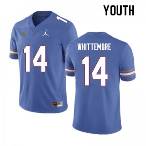 Youth #14 Trent Whittemore Florida Gators College Football Jerseys Blue 848389-816