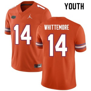 Youth #14 Trent Whittemore Florida Gators College Football Jerseys Orange 195255-933