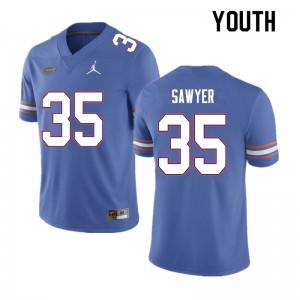 Youth #35 William Sawyer Florida Gators College Football Jerseys Blue 647564-818