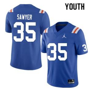 Youth #35 William Sawyer Florida Gators College Football Jerseys Throwback 873140-592