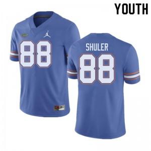 Jordan Brand Youth #88 Adam Shuler Florida Gators College Football Jerseys Blue 773826-440