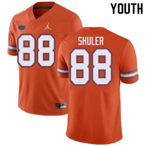 Jordan Brand Youth #88 Adam Shuler Florida Gators College Football Jerseys Orange 327755-519