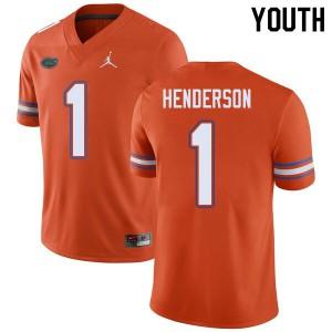Jordan Brand Youth #1 CJ Henderson Florida Gators College Football Jerseys Orange 137536-919