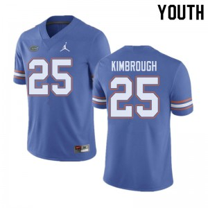 Jordan Brand Youth #25 Chester Kimbrough Florida Gators College Football Jerseys Blue 979106-896