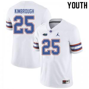 Jordan Brand Youth #25 Chester Kimbrough Florida Gators College Football Jerseys White 487156-113