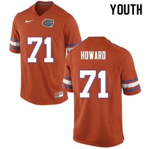 Youth #71 Chris Howard Florida Gators College Football Jerseys Orange 631283-575