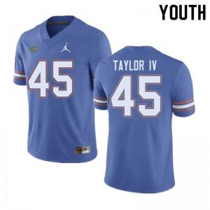 Jordan Brand Youth #45 Clifford Taylor IV Florida Gators College Football Jerseys Blue 536929-120