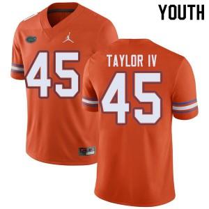 Jordan Brand Youth #45 Clifford Taylor IV Florida Gators College Football Jerseys Orange 186445-187