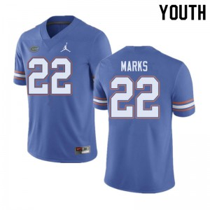 Jordan Brand Youth #22 Dionte Marks Florida Gators College Football Jerseys Blue 934113-501
