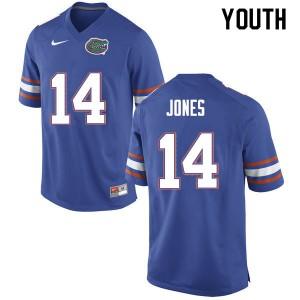 Youth #14 Emory Jones Florida Gators College Football Jerseys Blue 246018-332