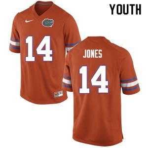 Youth #14 Emory Jones Florida Gators College Football Jerseys Orange 326149-487