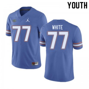 Jordan Brand Youth #77 Ethan White Florida Gators College Football Jerseys Blue 496909-220