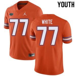 Jordan Brand Youth #77 Ethan White Florida Gators College Football Jerseys Orange 830598-881