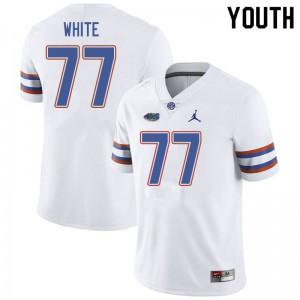 Jordan Brand Youth #77 Ethan White Florida Gators College Football Jerseys White 116852-313