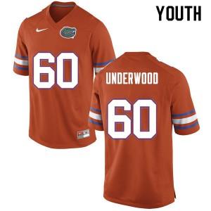 Youth #60 Houston Underwood Florida Gators College Football Jerseys Orange 722508-331