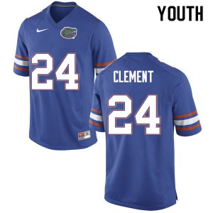 Youth #24 Iverson Clement Florida Gators College Football Jerseys Blue 291438-256