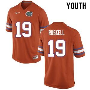 Youth #19 Jack Ruskell Florida Gators College Football Jerseys Orange 833245-645