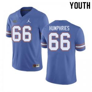 Jordan Brand Youth #66 Jaelin Humphries Florida Gators College Football Jerseys Blue 579392-701