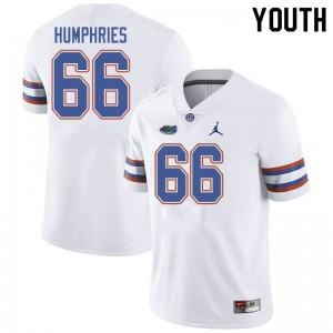 Jordan Brand Youth #66 Jaelin Humphries Florida Gators College Football Jerseys White 564414-994