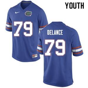 Youth #79 Jean DeLance Florida Gators College Football Jerseys Blue 683295-127