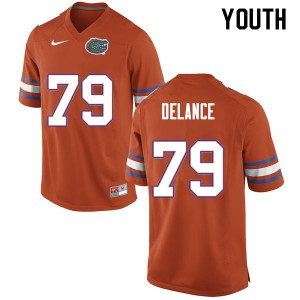 Youth #79 Jean DeLance Florida Gators College Football Jerseys Orange 136196-909