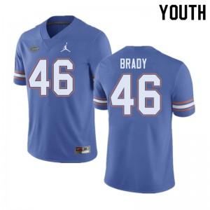 Jordan Brand Youth #46 John Brady Florida Gators College Football Jerseys Blue 367884-475