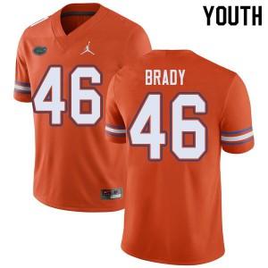 Jordan Brand Youth #46 John Brady Florida Gators College Football Jerseys Orange 539288-209
