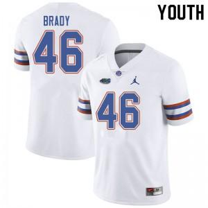 Jordan Brand Youth #46 John Brady Florida Gators College Football Jerseys White 907741-461