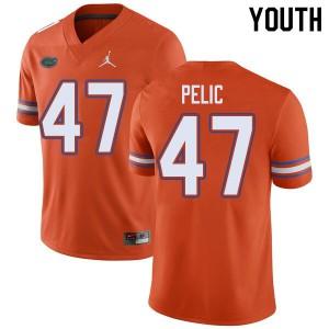Jordan Brand Youth #47 Justin Pelic Florida Gators College Football Jerseys Orange 617158-806