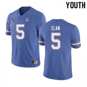 Jordan Brand Youth #5 Kaiir Elam Florida Gators College Football Jerseys Blue 912505-547