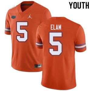 Jordan Brand Youth #5 Kaiir Elam Florida Gators College Football Jerseys Orange 522779-693
