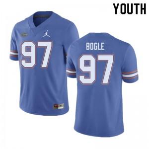 Jordan Brand Youth #97 Khris Bogle Florida Gators College Football Jerseys Blue 277385-383