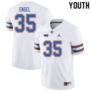 Jordan Brand Youth #35 Kyle Engel Florida Gators College Football Jerseys White 422071-181