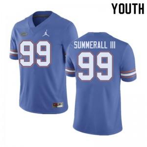 Jordan Brand Youth #99 Lloyd Summerall III Florida Gators College Football Jerseys Blue 392411-977