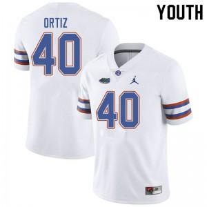 Jordan Brand Youth #40 Marco Ortiz Florida Gators College Football Jerseys White 764549-403