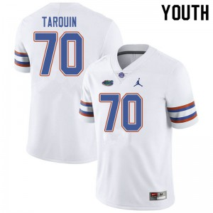 Jordan Brand Youth #70 Michael Tarquin Florida Gators College Football Jerseys White 939296-433