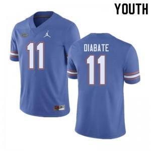 Jordan Brand Youth #11 Mohamoud Diabate Florida Gators College Football Jerseys Blue 335373-419
