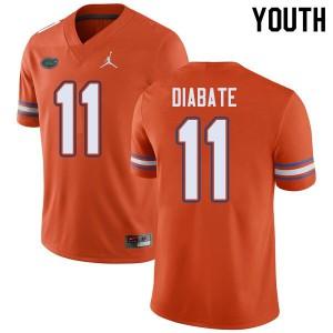 Jordan Brand Youth #11 Mohamoud Diabate Florida Gators College Football Jerseys Orange 606491-257