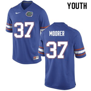 Youth #37 Patrick Moorer Florida Gators College Football Jerseys Blue 607339-752
