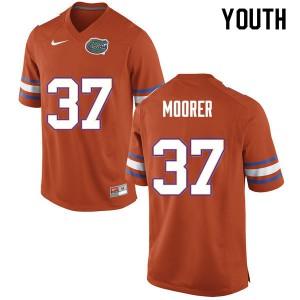 Youth #37 Patrick Moorer Florida Gators College Football Jerseys Orange 777767-632