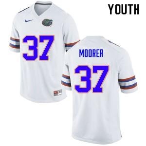 Youth #37 Patrick Moorer Florida Gators College Football Jerseys White 665372-578