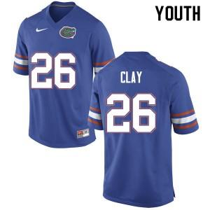 Youth #26 Robert Clay Florida Gators College Football Jerseys Blue 693559-534