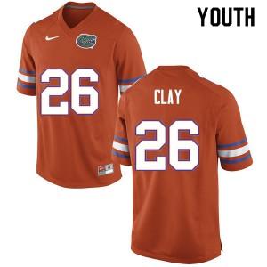 Youth #26 Robert Clay Florida Gators College Football Jerseys Orange 287294-938