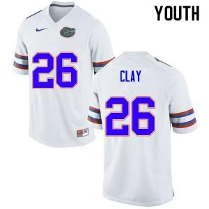 Youth #26 Robert Clay Florida Gators College Football Jerseys White 951525-949
