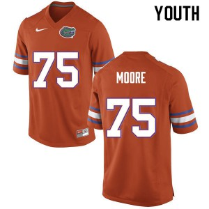 Youth #75 T.J. Moore Florida Gators College Football Jerseys Orange 812908-358