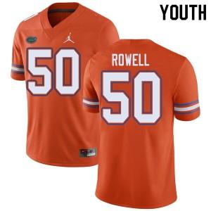 Jordan Brand Youth #50 Tanner Rowell Florida Gators College Football Jerseys Orange 718123-269