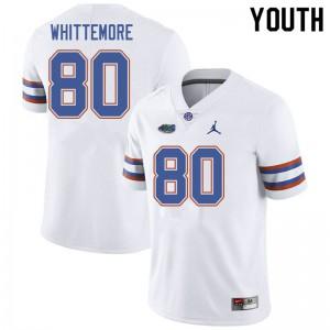 Jordan Brand Youth #80 Trent Whittemore Florida Gators College Football Jerseys White 283218-348