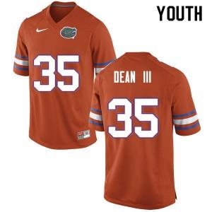 Youth #35 Trey Dean III Florida Gators College Football Jerseys Orange 351750-244