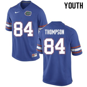 Youth #84 Trey Thompson Florida Gators College Football Jerseys Blue 354026-679