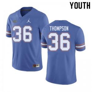 Jordan Brand Youth #36 Trey Thompson Florida Gators College Football Jerseys Blue 519692-146